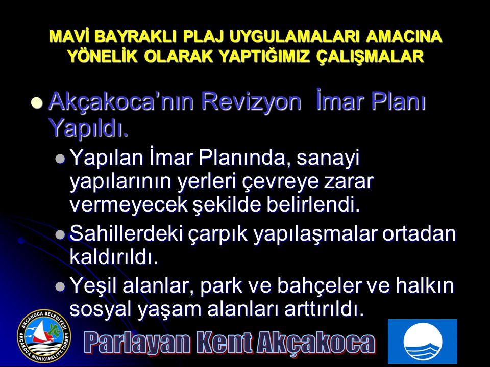 MAVİ BAYRAKLI PLAJ UYGULAMALARI AMACINA YÖNELİK OLARAK YAPTIĞIMIZ ÇALIŞMALAR Organik Tarıma Geçiş Hedefi doğrultusunda Organik Gübre Üretimi yapıldı Organik Tarıma Geçiş Hedefi doğrultusunda Organik Gübre Üretimi yapıldı Akçakoca hatta Türkiye'de önemli bir çevre sorunu olan Tavuk Gübreleri derelere karışıp Kıyıları kirletiyor.Bu atıklar yılda 80 Bin ton çıkıyor.
