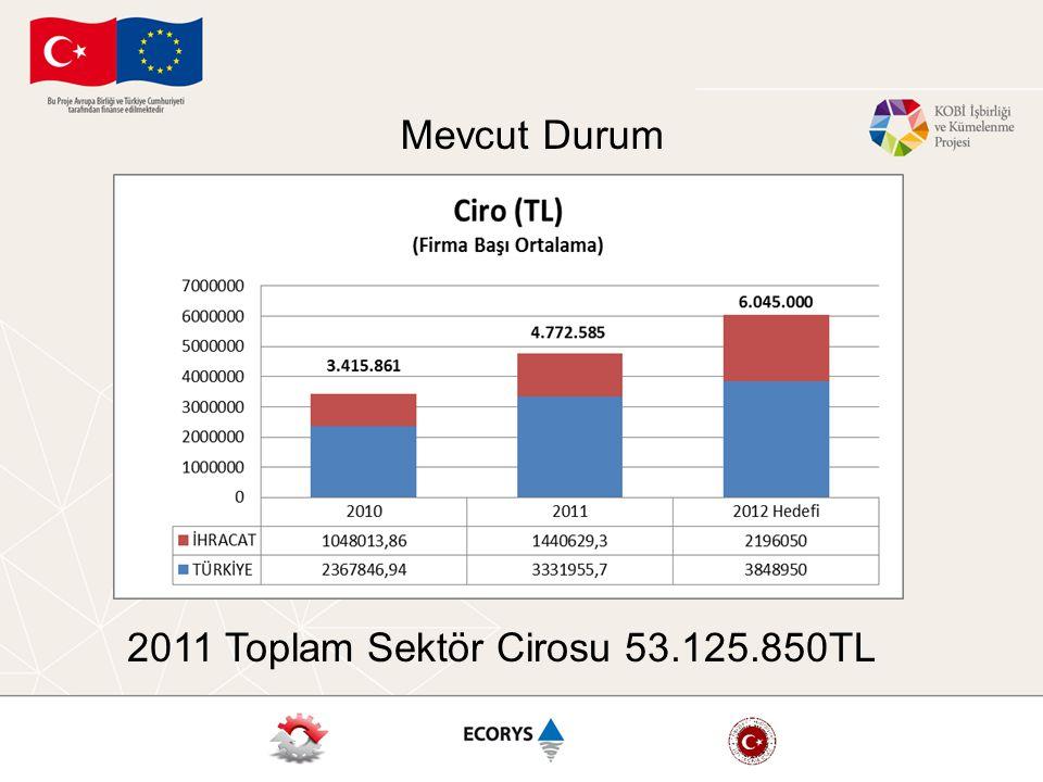 2011 Toplam Sektör Cirosu 53.125.850TL Mevcut Durum