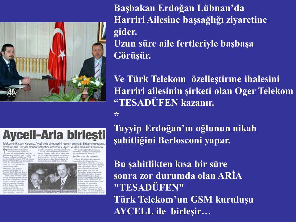 Başbakan Erdoğan Lübnan'da Harriri Ailesine başsağlığı ziyaretine gider.