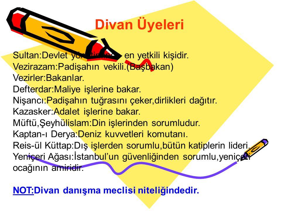 Devlet Yönetimi Osmanlı Devletini Osman Bey soyundan gelen hükümdarlar yönetmiştir.Yönetim babadan oğula geçmiştir. Devlet; Mutlakiyetçi, Merkeziyetçi