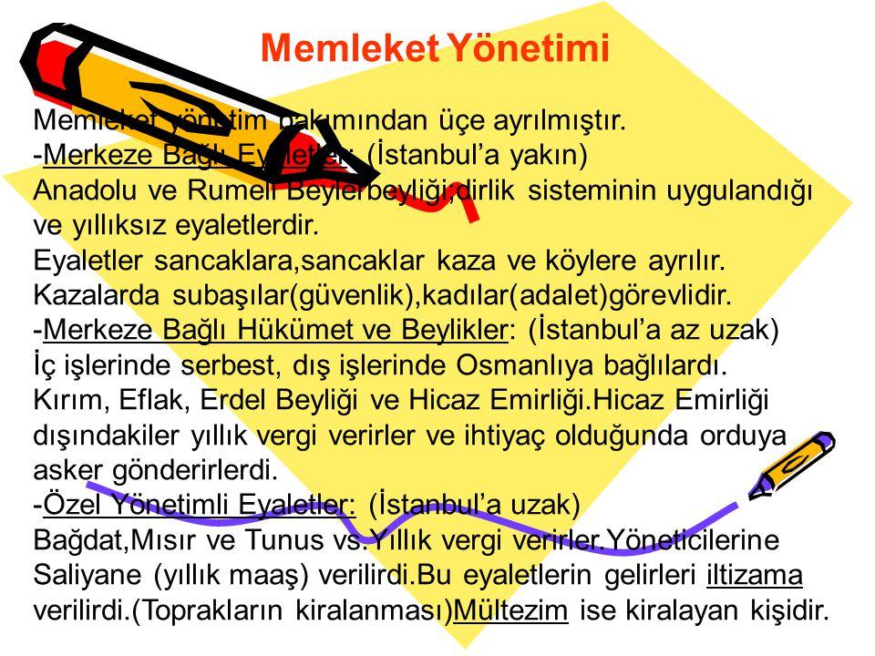 Divan Üyeleri Sultan:Devlet yönetiminde en yetkili kişidir. Vezirazam:Padişahın vekili.(Başbakan) Vezirler:Bakanlar. Defterdar:Maliye işlerine bakar.