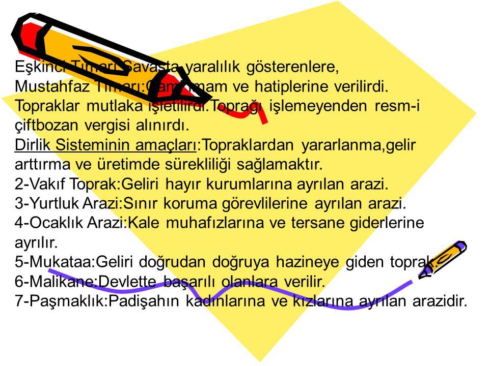 Toprak Yönetimi Toprak İslam Hukukuna göre Öşri,Haraci ve Miri arazi olmak üzere üçe ayrılır. 1-Öşür Arazi:Müslümanlara ait olan topraklar.Öşür vergis