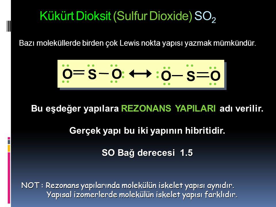 1.9 Bazı basit moleküllerin yapısı