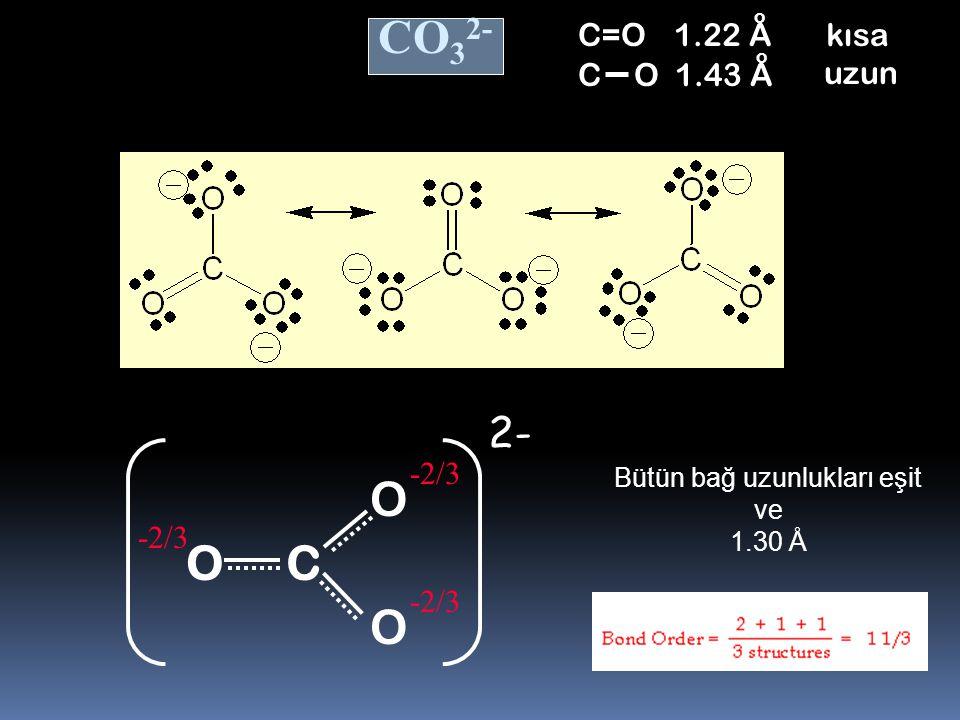 Kükürt Dioksit (Sulfur Dioxide) SO 2 Bu eşdeğer yapılara REZONANS YAPILARI adı verilir. Gerçek yapı bu iki yapının hibritidir. SO Bağ derecesi 1.5 OO