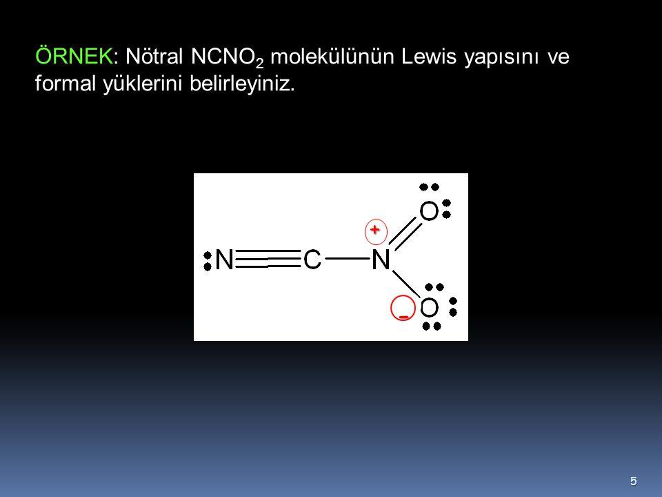 Örnek  Ozon (O 3 )  Ozonun Lewis yapısı  bir tek bağ ve bir de  çift bağ olarak gösterilir Bu yüzden bağlardan biri kısa diğeri ise uzun olmalıdır.