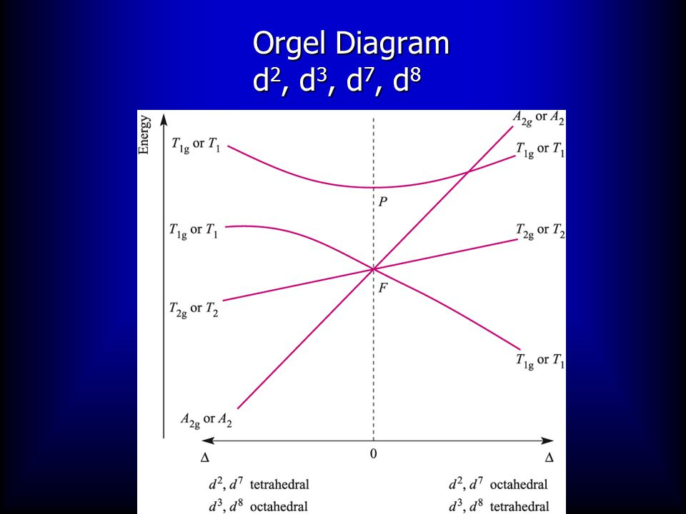 Orgel Diagram d 2, d 3, d 7, d 8