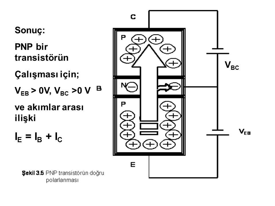 Bulgu: Transistörün B-E terminali çalışıyor, fakat transistör kesimde.