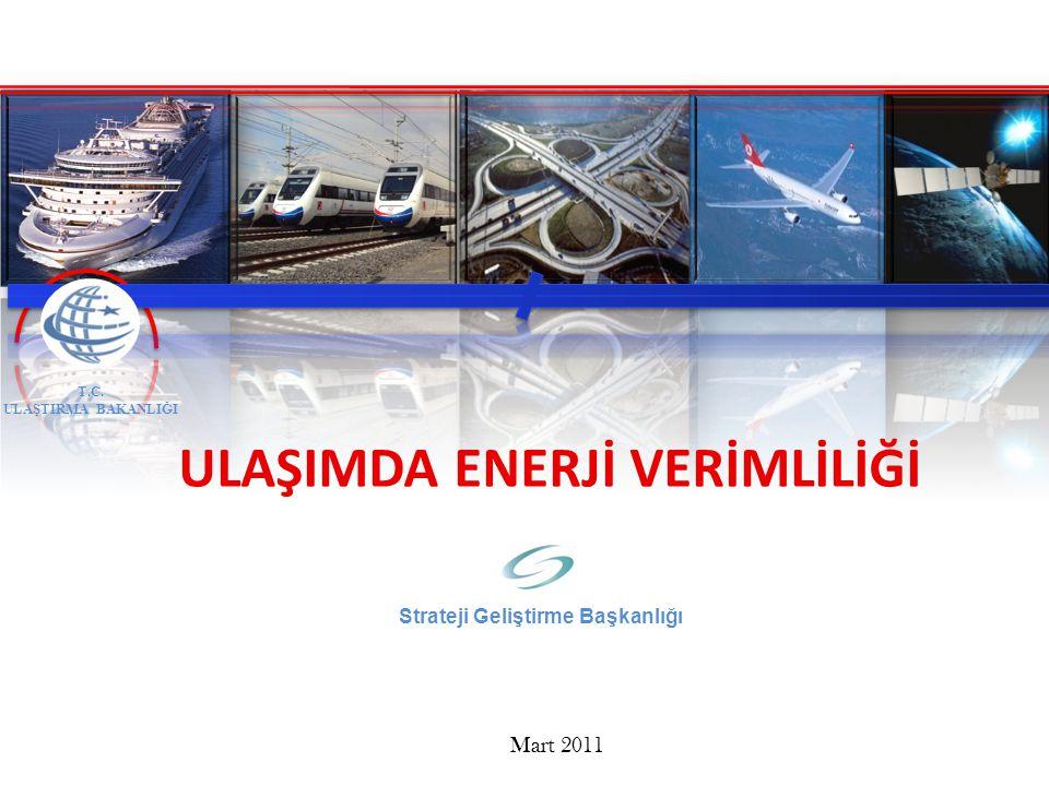 T.C. ULAŞTIRMA BAKANLIĞI Mart 2011 ULAŞIMDA ENERJİ VERİMLİLİĞİ Strateji Geliştirme Başkanlığı