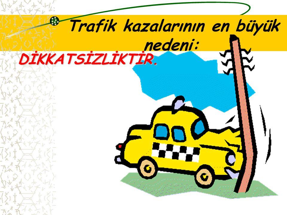 2- TRAFİK KAZALARINDAN KORUNMAK Trafik kazalarından korunmak için şu kurallara uymalıyız: Yola çıkarken dikkatli olmalıyız. Yollarda oyun oynamamalıyı