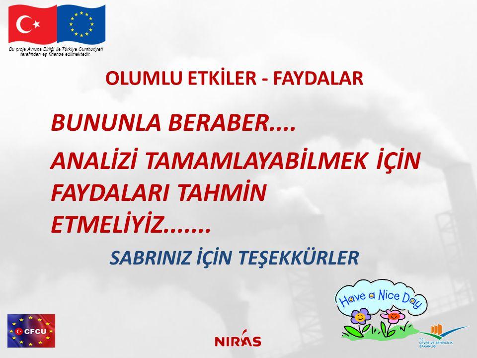 OLUMLU ETKİLER - FAYDALAR BUNUNLA BERABER....