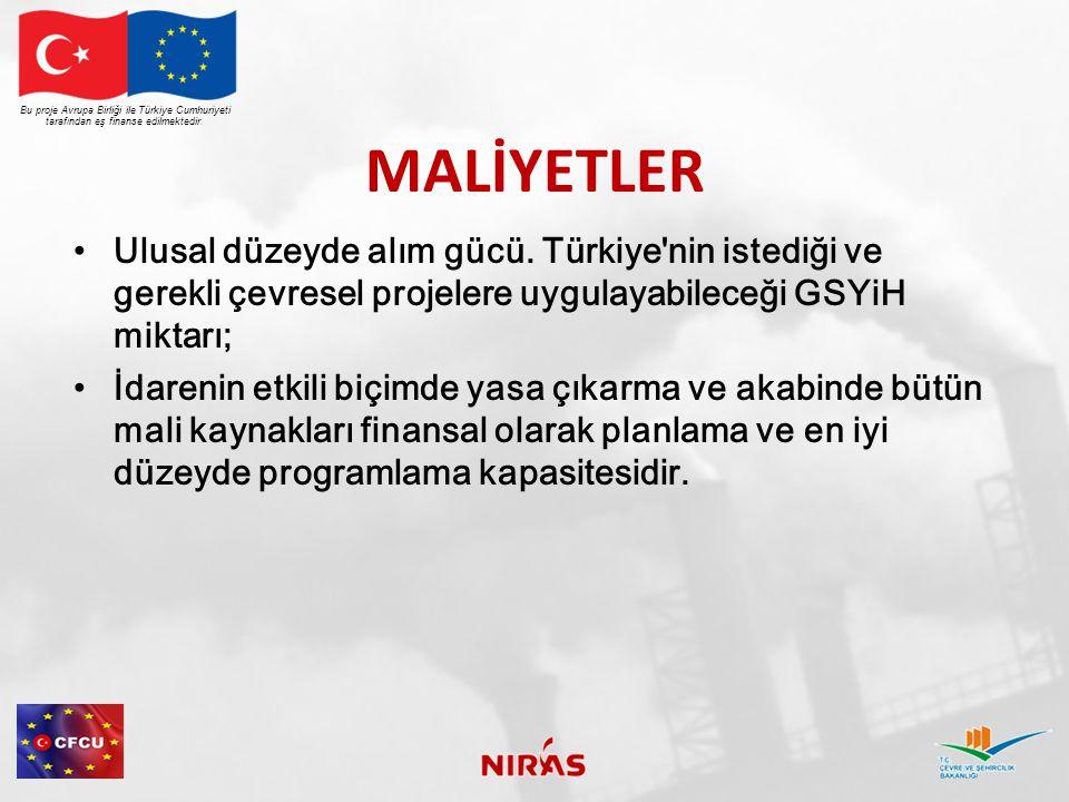 MALİYETLERİN TAHMİNİ  Türkiye için AB Entegre Çevre Uyum Stratejisi çeşitli Çevre Sektörleri için maliyet tahminlerini içerir.