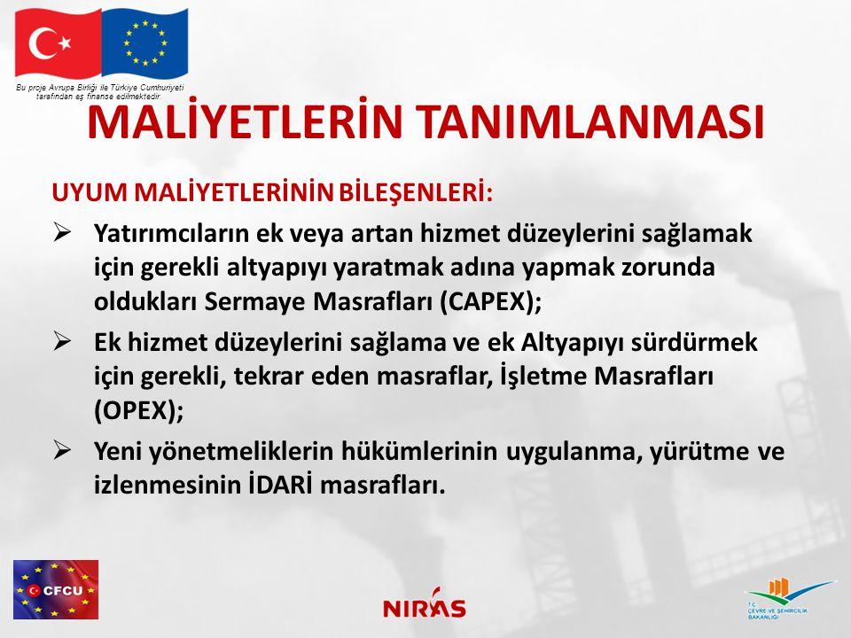 ÇOK YILLI CAPEX MALİYETLERİ Bu proje Avrupa Birliği ile Türkiye Cumhuriyeti tarafından eş finanse edilmektedir.