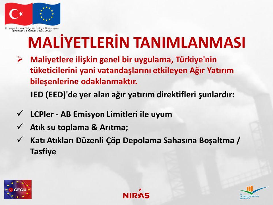 ÇOK YILLI OPEX MALİYETLERİ Bu proje Avrupa Birliği ile Türkiye Cumhuriyeti tarafından eş finanse edilmektedir.
