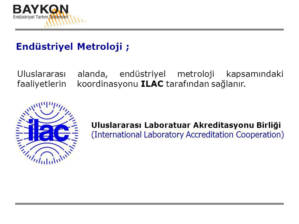 Uluslararası alanda, endüstriyel metroloji kapsamındaki faaliyetlerin koordinasyonu ILAC tarafından sağlanır. Uluslararası Laboratuar Akreditasyonu Bi