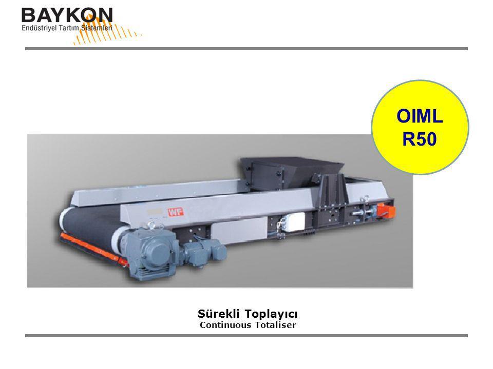 Sürekli Toplayıcı Continuous Totaliser OIML R50