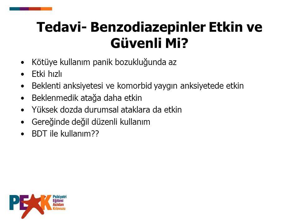 Tedavi- Benzodiazepinler Etkin ve Güvenli Mi.