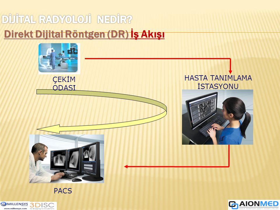 . ÇEKİM ODASI HASTA TANIMLAMA İSTASYONU PACS Direkt Dijital Röntgen (DR) İş Akışı