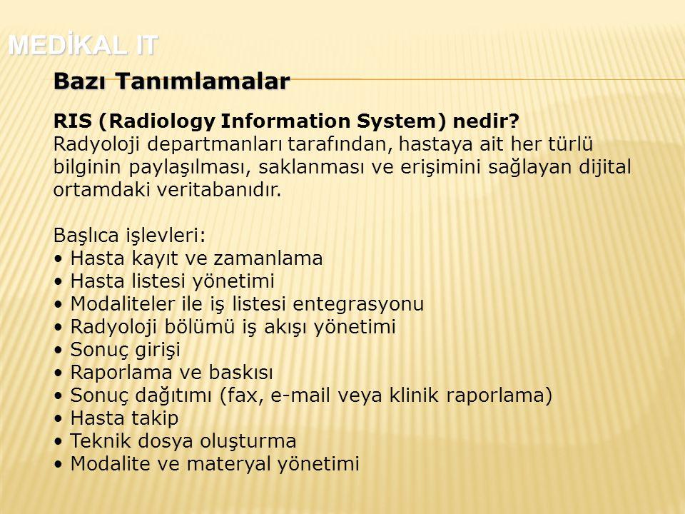 Bazı Tanımlamalar RIS (Radiology Information System) nedir.