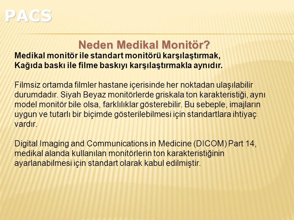 Medikal monitör ile standart monitörü karşılaştırmak, Kağıda baskı ile filme baskıyı karşılaştırmakla aynıdır.