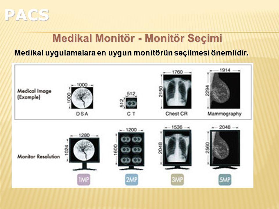 Medikal Monitör - Monitör Seçimi Medikal uygulamalara en uygun monitörün seçilmesi önemlidir.