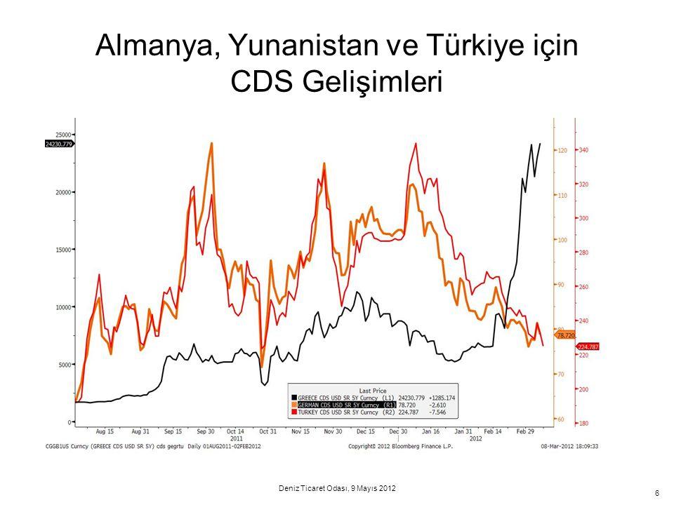 6 Almanya, Yunanistan ve Türkiye için CDS Gelişimleri Deniz Ticaret Odası, 9 Mayıs 2012