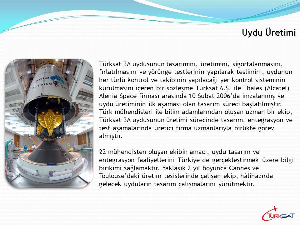 Uydu Üretimi Türksat 3A uydusunun tasarımını, üretimini, sigortalanmasını, fırlatılmasını ve yörünge testlerinin yapılarak teslimini, uydunun her türl