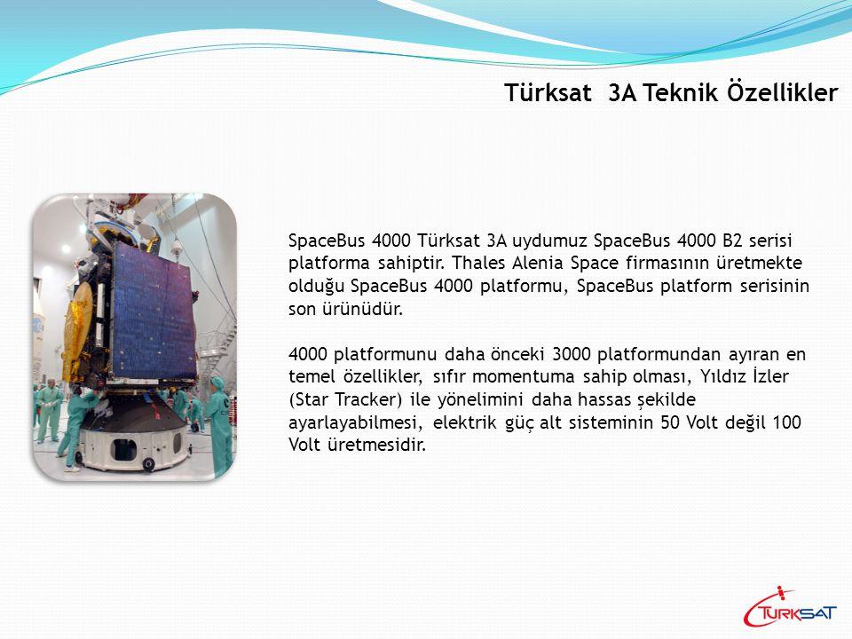 SpaceBus 4000 Türksat 3A uydumuz SpaceBus 4000 B2 serisi platforma sahiptir. Thales Alenia Space firmasının üretmekte olduğu SpaceBus 4000 platformu,