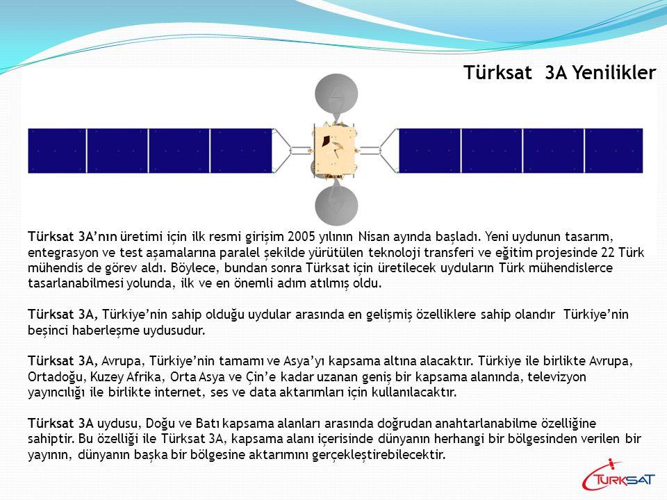Türksat 3A uydusu üzerinden VSAT uygulamalarında kurumsal müşteriler 50-60 cm gibi küçük çaplı antenlerle yayın alabilecekler ve 1 Watlık HPA'larla uplink yapabileceklerdir.