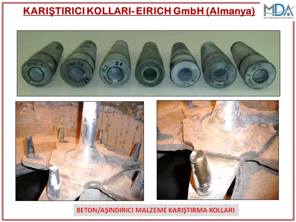 KARI Ş TIRICI KOLLARI- EIRICH GmbH (Almanya) BETON/AŞINDIRICI MALZEME KARIŞTIRMA KOLLARI