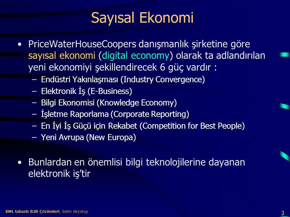 24 XML tabanlı B2B Çözümleri, Selim Akyokuş XML tabanlı B2B Çözümleri, Selim Akyokuş XML Nedir.
