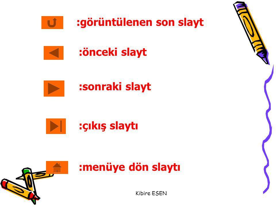 Kibire ESEN :önceki slayt :sonraki slayt :çıkış slaytı :menüye dön slaytı :görüntülenen son slayt
