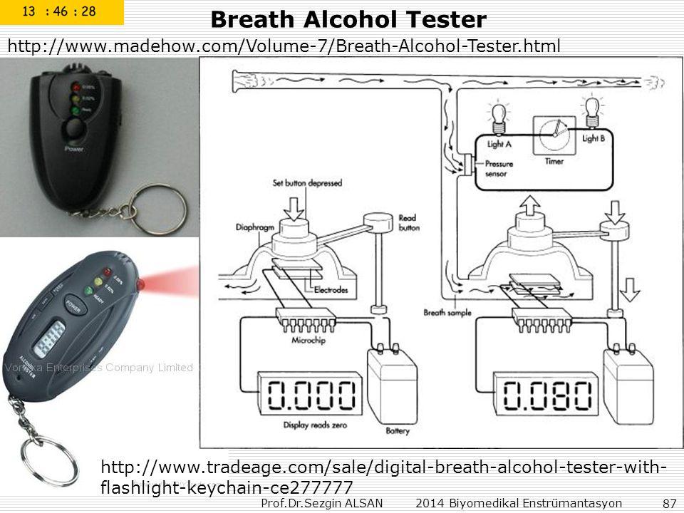 Prof.Dr.Sezgin ALSAN 2014 Biyomedikal Enstrümantasyon 87 Breath Alcohol Tester http://www.madehow.com/Volume-7/Breath-Alcohol-Tester.html http://www.t