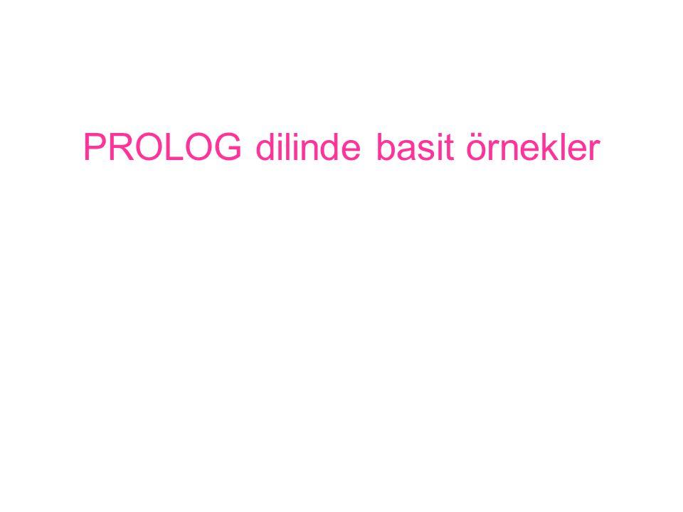PROLOG dilinde basit örnekler