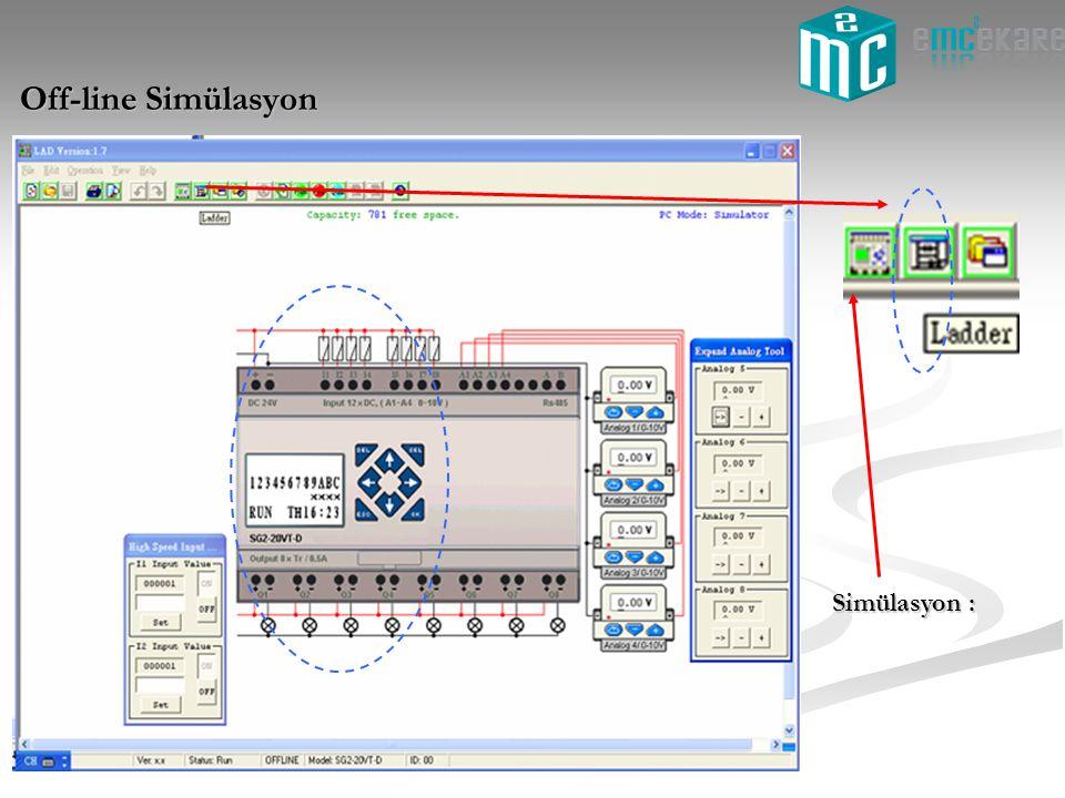 Simülasyon : Off-line Simülasyon