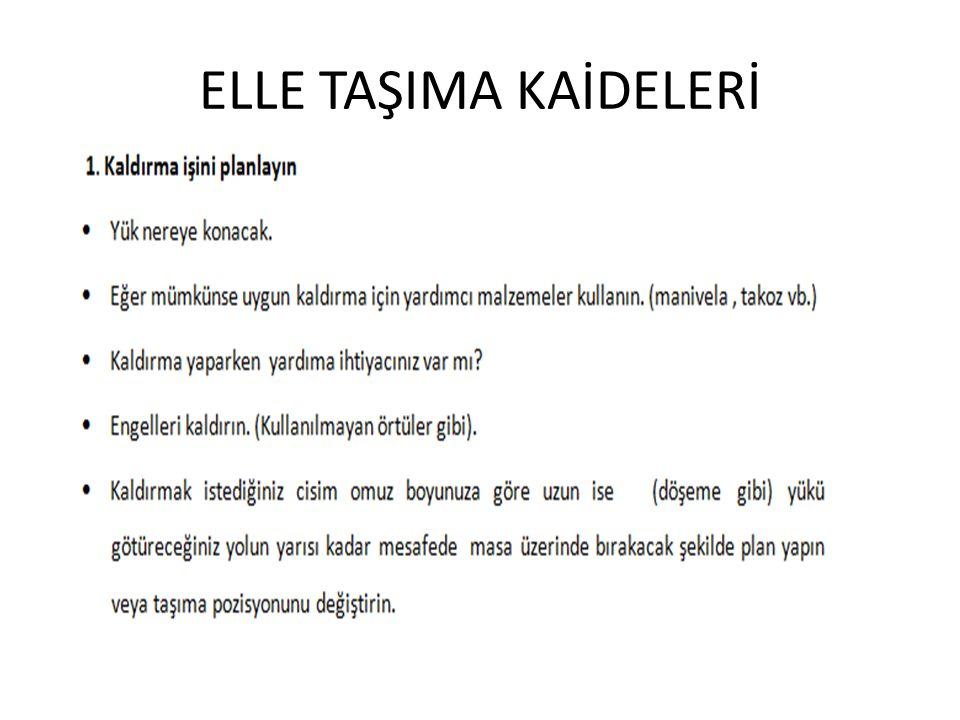ELLE TAŞIMA KAİDELERİ
