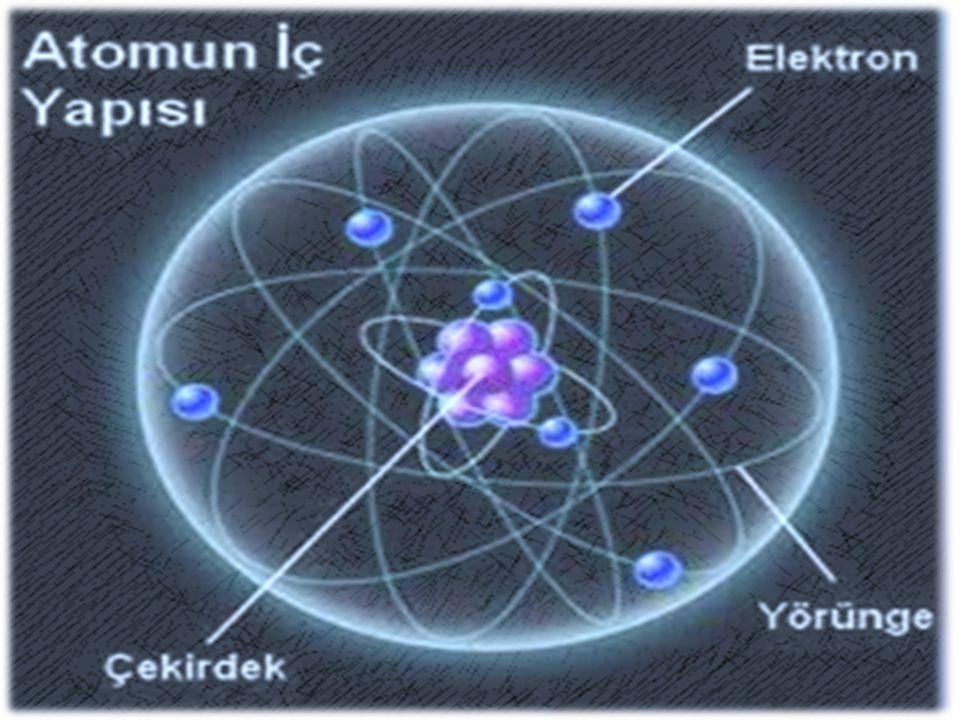 Atom iki kısımdan oluşur : 1-Çekirdek (merkez) 2-Katmanlar (yörünge; enerji düzeyi)