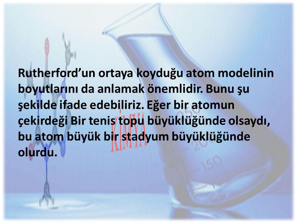 Rutherford'un ortaya koyduğu atom modelinin boyutlarını da anlamak önemlidir.