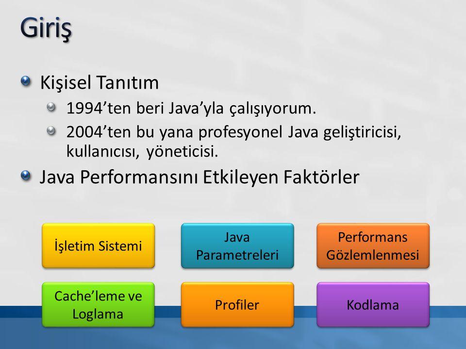 Kişisel Tanıtım 1994'ten beri Java'yla çalışıyorum. 2004'ten bu yana profesyonel Java geliştiricisi, kullanıcısı, yöneticisi. Java Performansını Etkil