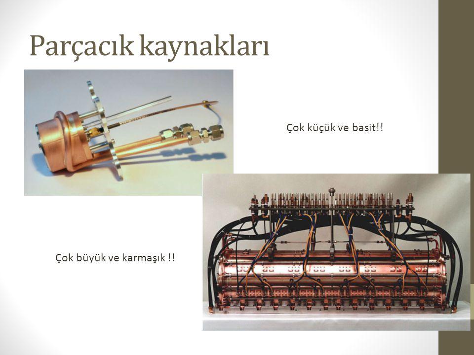 Plazma odacığı İyon çıkış deliği Ekstraktör sistemi Plazma üretmek için voltaj Malzeme girişi Bir parçacık kaynağı hangi bileşenlerden oluşur.