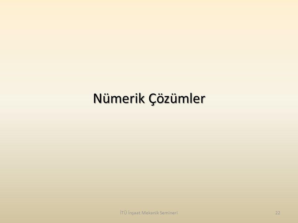 Nümerik Çözümler İTÜ İnşaat Mekanik Semineri22