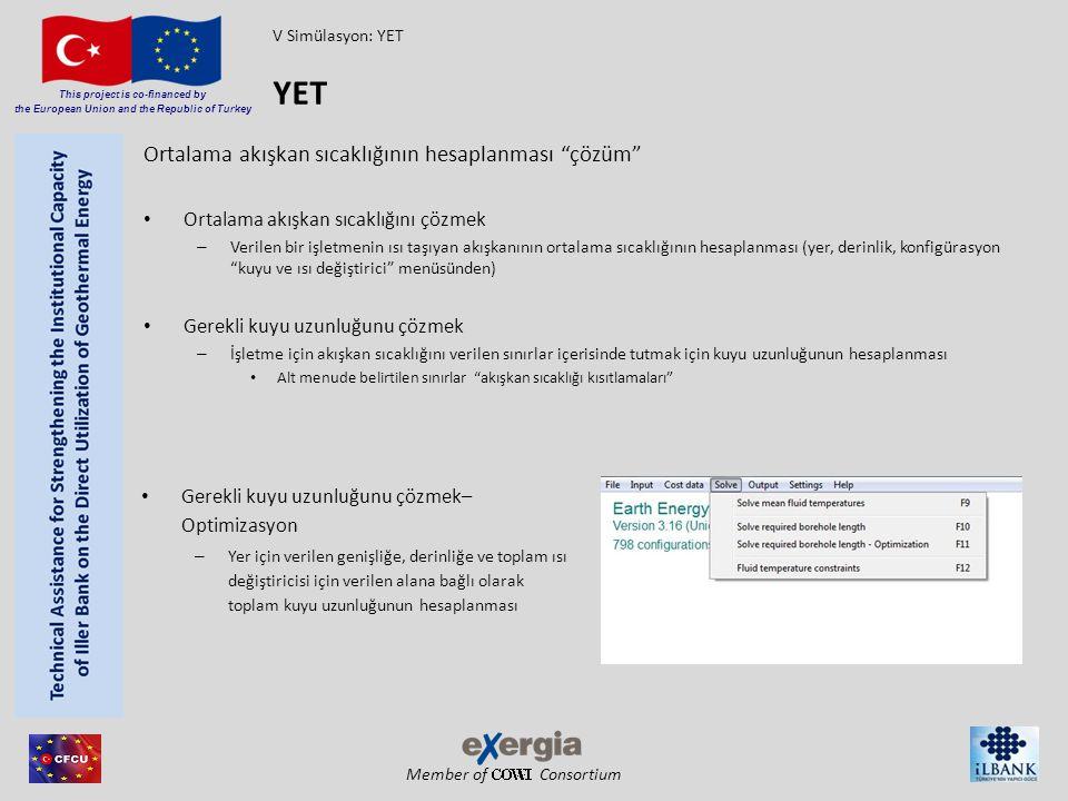 "Member of Consortium This project is co-financed by the European Union and the Republic of Turkey Ortalama akışkan sıcaklığının hesaplanması ""çözüm"" O"