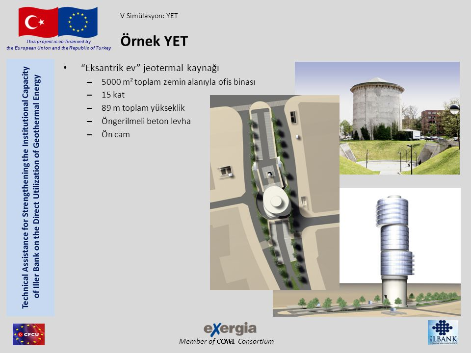 "Member of Consortium This project is co-financed by the European Union and the Republic of Turkey ""Eksantrik ev"" jeotermal kaynağı – 5000 m² toplam ze"