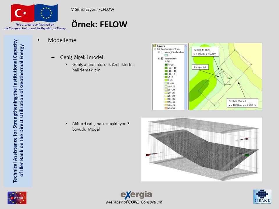 Member of Consortium This project is co-financed by the European Union and the Republic of Turkey Modelleme – Geniş ölçekli model Geniş alanın hidroli