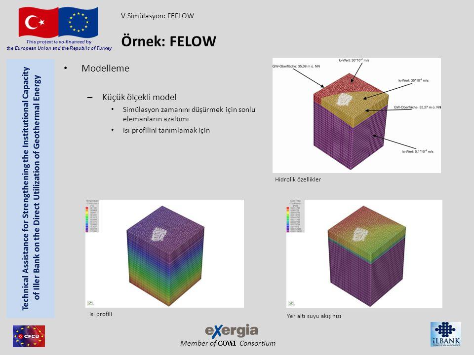 Member of Consortium This project is co-financed by the European Union and the Republic of Turkey Modelleme – Küçük ölçekli model Simülasyon zamanını