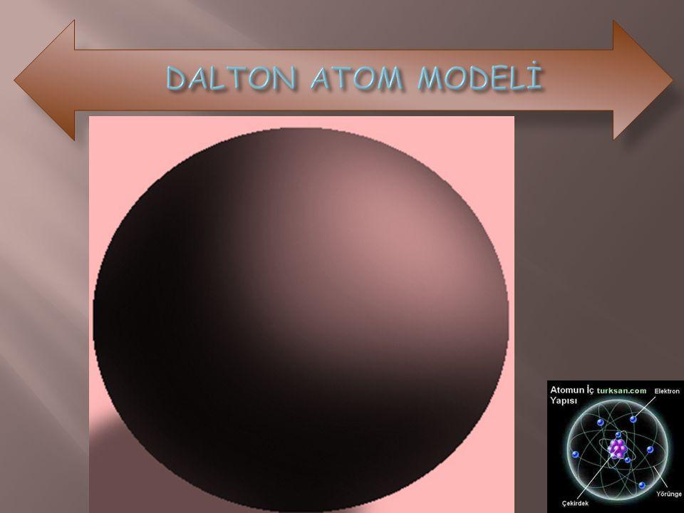 Dalton atom modelinde (-) yüklü elektronlardan ve (+) yüklü protonlardan söz edilmemişti.