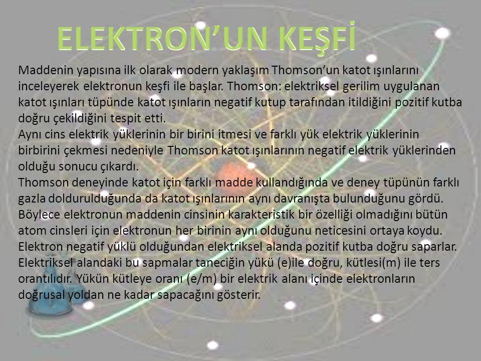 Katot tüpleriyle elektron elde edildiği gibi, elektrik deşarj (boşalma ) tüpleri ile de pozitif iyonlar elde edilir.