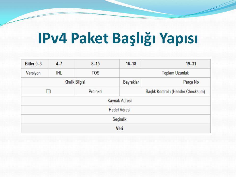 IPv4 Paket Başlığı Yapısı