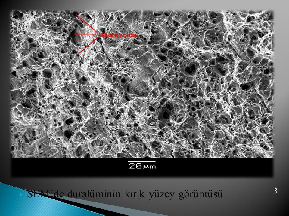  SEM'de duralüminin kırık yüzey görüntüsü 3