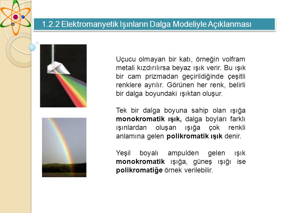 Uçucu olmayan bir katı, örneğin volfram metali kızdırılırsa beyaz ışık verir.