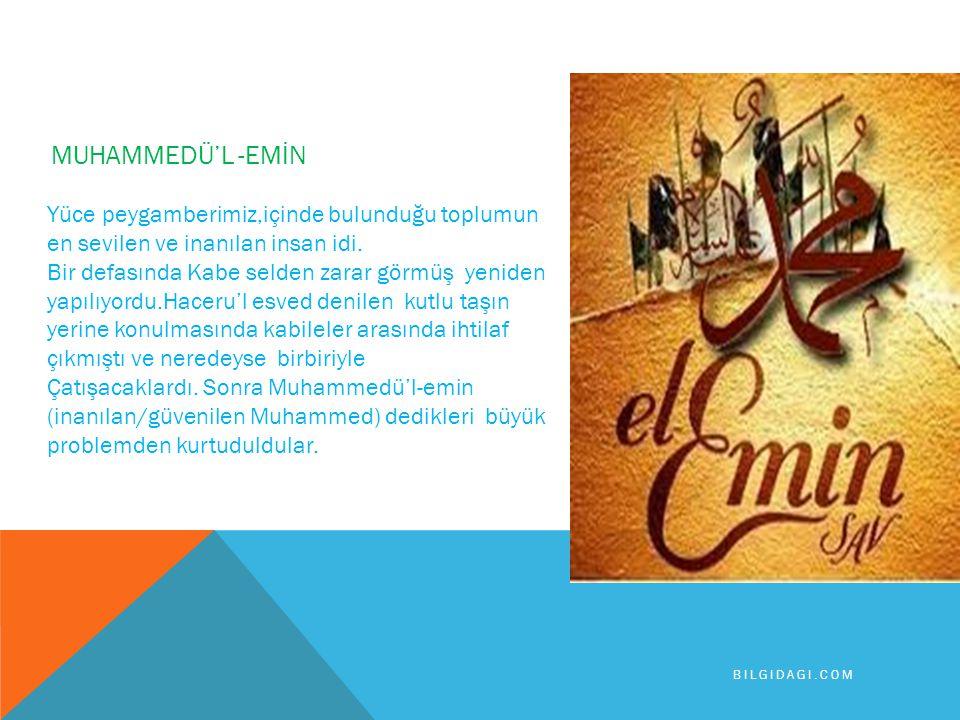 HZ.MUHAMMED DÜRÜST VE GÜVENİLİRDİ Hz. Muhammed çocukluğundan itibaren doğru sözlülüğü esas aldı..